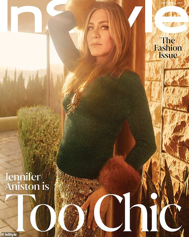 Less stress: Aniston revealed in her interview that she had to limit the amount of CNN she was watching after getting inundated with pandemic news