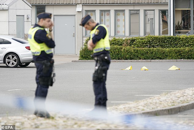 A 'large police operation' is underway on Kristianstad after multiple gunshots were heard at 3.40pm