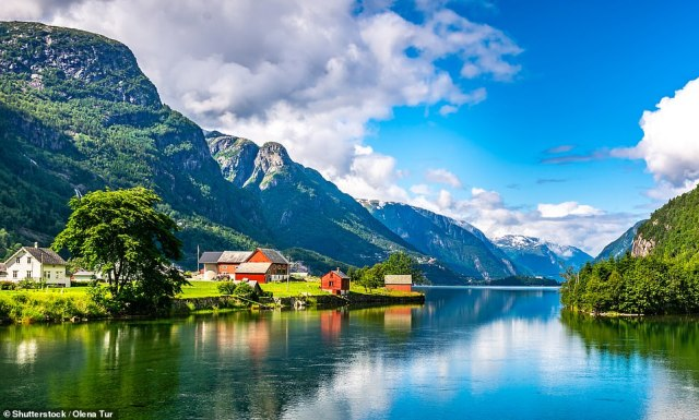 Norway (pictured) is one of seven countries that have been added to the green list, meaning holidaymakers won't have to quarantine upon return