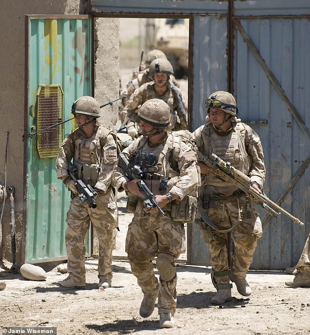 The scene is only too familiar. On the dusty plains of Afghanistan, a trail of refugees heads for the beleaguered capital. On the streets of Kabul, a car bomb outside the home of the defence minister kills eight people. Pictured: Welsh Guards in 2009