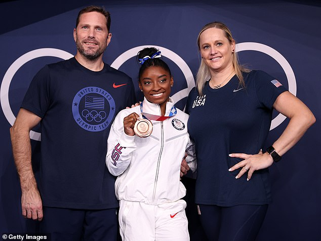Shock: Juntendo University professorKazuhiro Aoki said that Biles' coaches phoned him 12 hours after she dropped out of the team final to ask him to use the college's gym