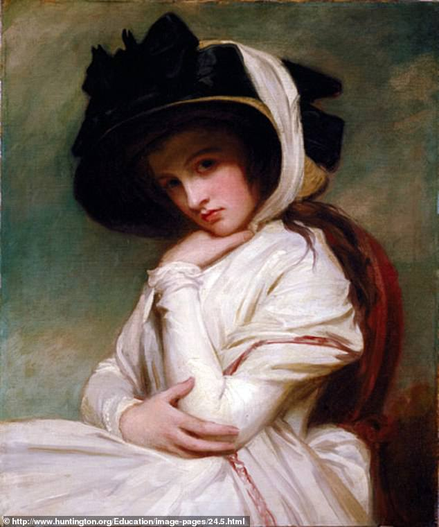 Nelson had first met Lady Hamilton (pictured) in 1793 and the pair were reunited in 1798 following the Battle of the Nile