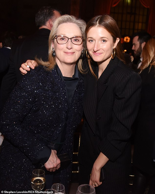 Starting on the good foot: A source told The Sun in March that Mark had 'charm[ed]' Grace's mother Meryl; Grace and Meryl seen in 2018 in NYC