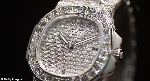 Syer also reportedly bought five Patek Philippe watches with Hart's card, like the one pictured