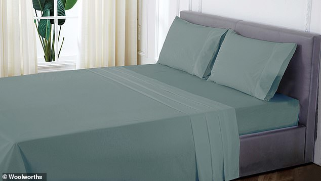 For the bedroom, there's organic cotton sheet sets available for double ($35), queen ($40) and king ($50) sized beds and individual sheets (flat or fitted) in a variety of colours