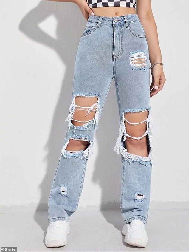 One thing Donny is certain of is that overly ripped jeans (pictured) are out forever