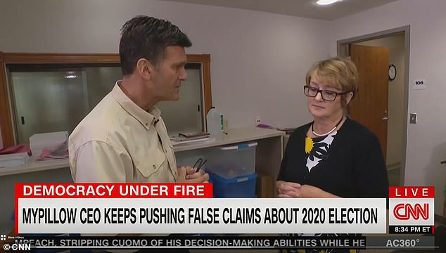 Griffin said he went to Delta County, Michigan - where Lindell claims 3,215 votes for Trump were changed to votes for Biden - and found out that the county uses paper ballots
