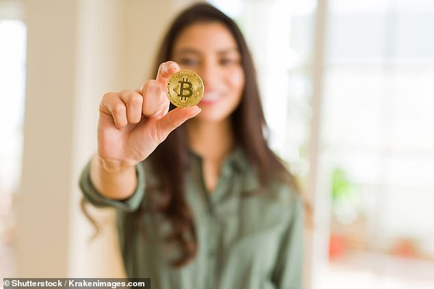 Despite the volatility, Mr Schebesta predicted Bitcoin (pictured is a stock image) would be worth $61,000 by the end of 2021 and $338,000 by 2025 as more people embraced decentralised finance to do transactions instead of using bank accounts
