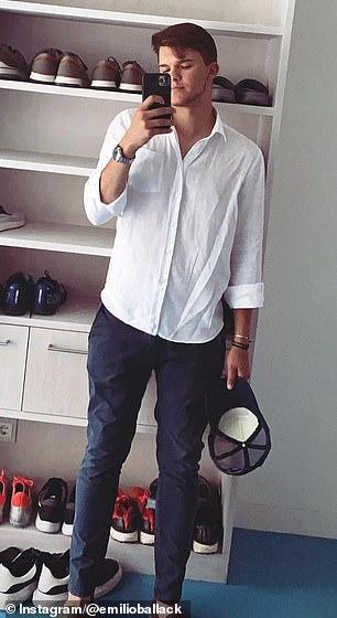 Emilio, 18, pictured in his last Instagram post