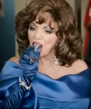 Snickers commercials along a similar theme have featured on British television, with one example featuring Dame Joan Collins as the 'diva' protagonist