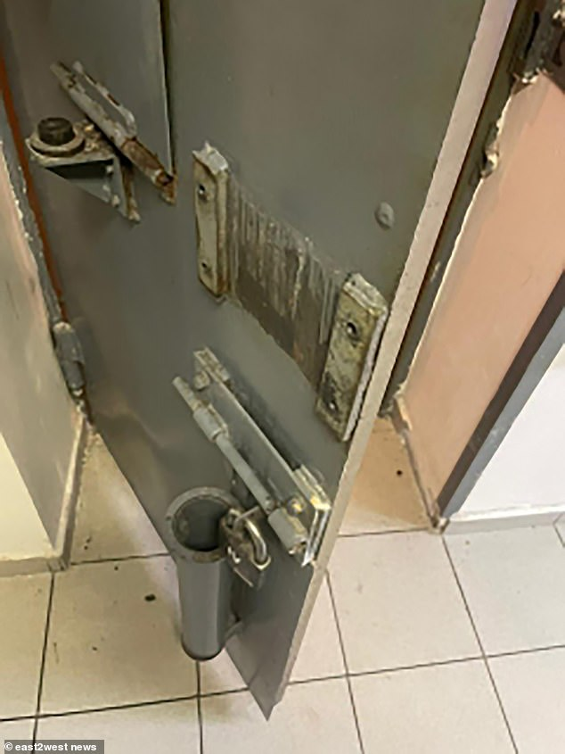 Law enforcement have issued pictures of the missing men who are seen as potentially dangerous following the nighttime breakout (Pictured: The prison cell from where the prisoner escaped)