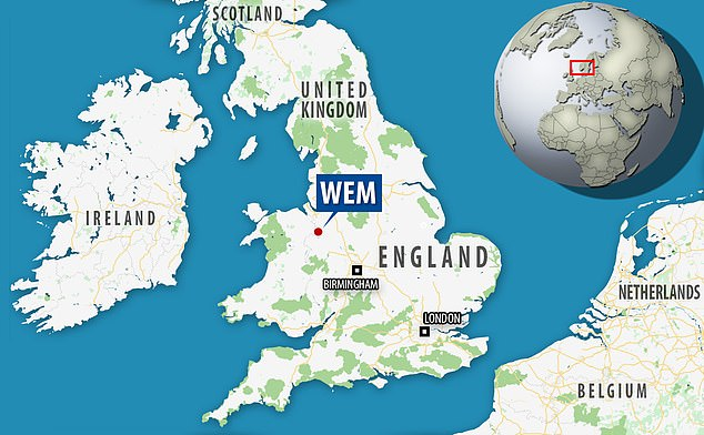 The researchers made the discovery in Wem, England, a small town in Shropshire county