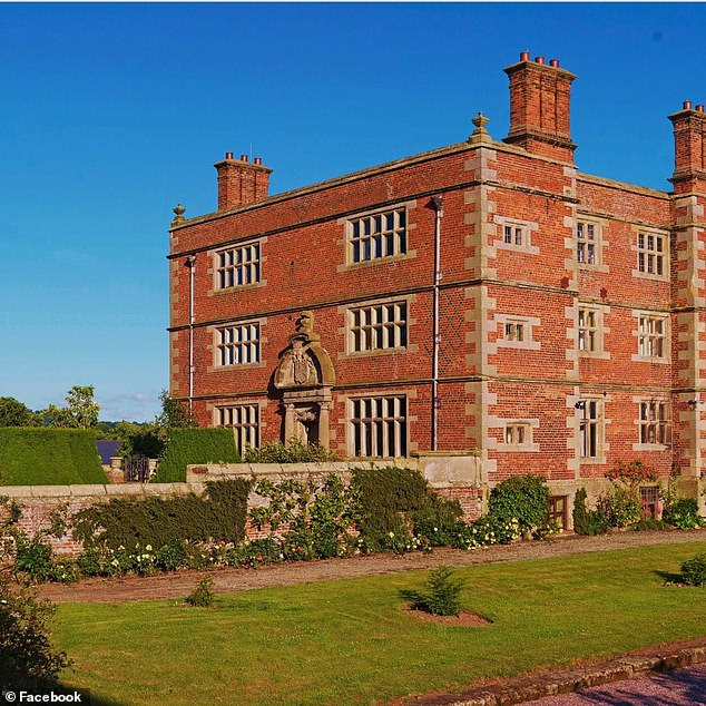 The discovery was made on land which belongs to Elizabethan manor Soulton Hall (pictured), which dates to the 16th century.