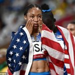 Allyson Felix passes Carl Lewis to become the USA's most decorated track and field athlete💥👩💥💥👩💥