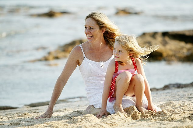 Australia, remember, closed its borders in a bid to remain entirely free from the disease. At first it worked. (Pictured, Angela Mollard and her daughter aged 5 on Manly Beach)