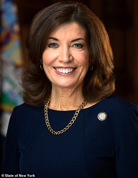 Lieutenant Gov. Kathy Hochul who will replace Cuomo if he resigns or is impeached, which is becoming increasingly likely