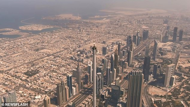 An Emirates Airlines spokesperson told Gulf Today the filming on top of the tower was real and made possible by a number of local organisations. The spokesperson confirmed that all safety measures were put in place for the impressive promo shoot.