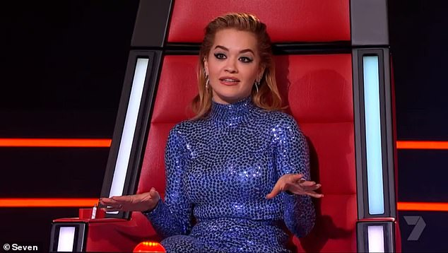 Who will win?The Voice continues Tuesday at 7.30pm on Channel Seven. Pictured: Rita Ora