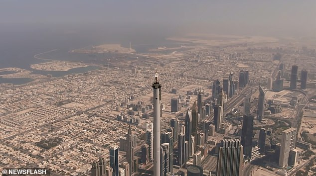 The fearless skydiverNicole Smith-Ludvik standing atop the tallest building in the world