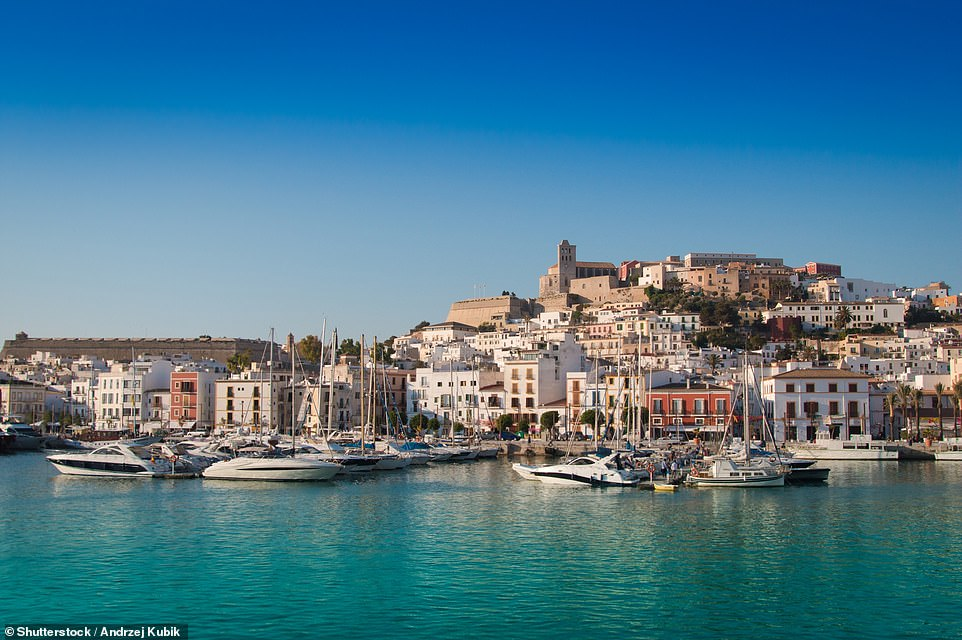 Ibiza Old Town (above), a UNESCO World Heritage Site, has a fortified castle overlooking the streets and harbour below