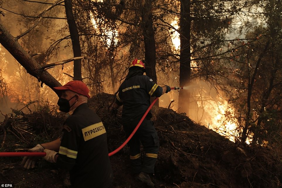 At least 1,000 homes and half a million acres have been destroyed in the blazes which have ripped through forest that was dried out by a weeks-long heatwave