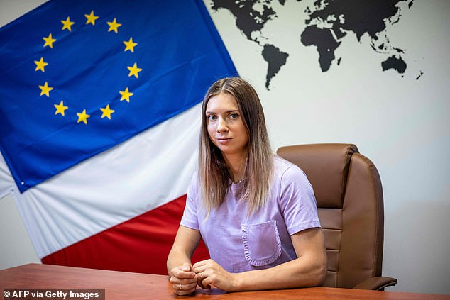 Krystsina Tsimanouskaya, who fled Belarus's Olympic athletics team after being threatened by the regime, spoke today from her new home in Poland