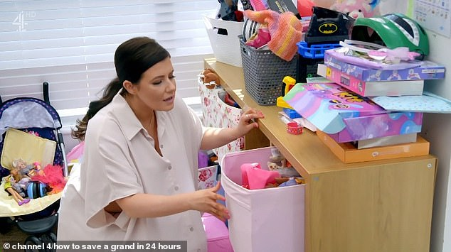 Welsh-wonder Peachy Clean went in to tackle the playroom, where she found mountains of toys and games