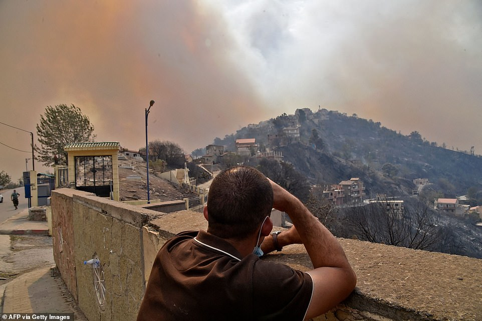 Fires were reported in multiple locations in 14 districts, 10 of them around Tizi Ouzou, one of the most populous cities in Kabylie. Major fires were also reported in Jijel, Bejaia, Bouira, Guelma, Khenchela and Setif