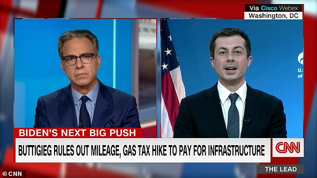 Transportation Secretary Pete Buttigieg walked back a comment about taxing drivers by the mile in a new infrastructure package in March and insisted they would not be included in the plan