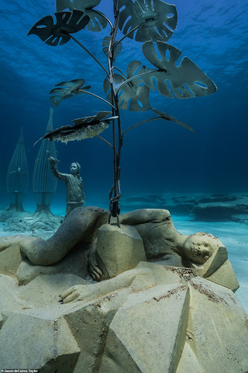 DeCaires Taylor has designed aquatic sculpture gardens across the world, everywhere from Mexico to Cannes