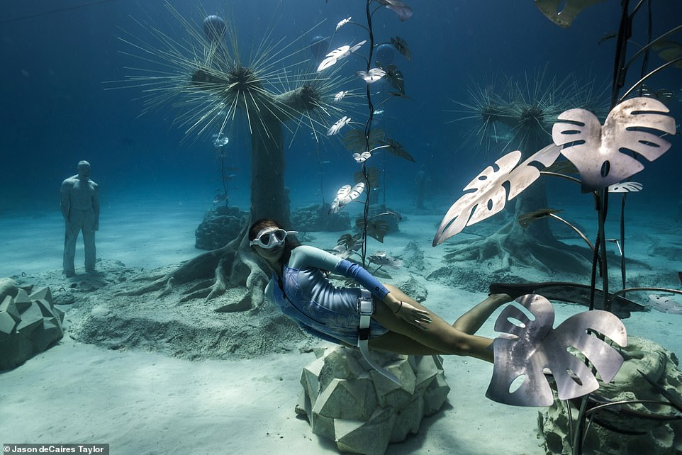 ArtistJason deCaires Taylor designed 93 sculptures for divers and snorkellers to swim among