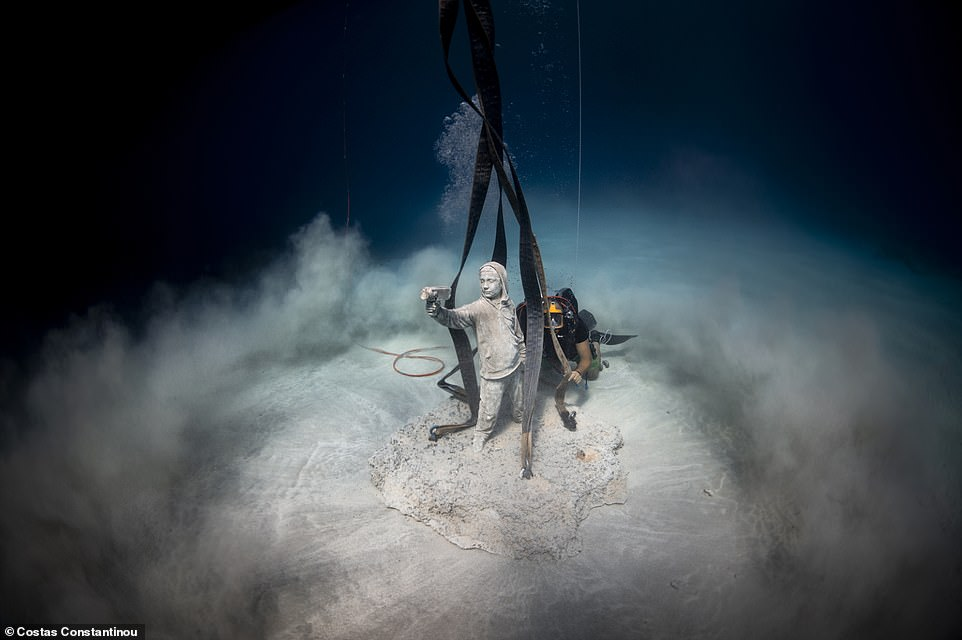 Former diving instructor deCaires Taylor is preoccupied with biodiversity and marine life in his work