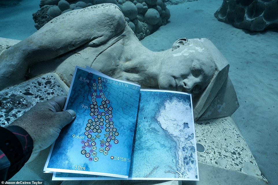 Holidaymakers diving off the coast of Pernera Beach can explore the underwater museum