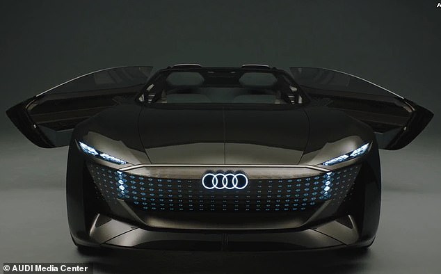 Audi's new Skysphere concept car can transform into two different modes: A sports car with a low clearance and a grand touring model with autonomous driving