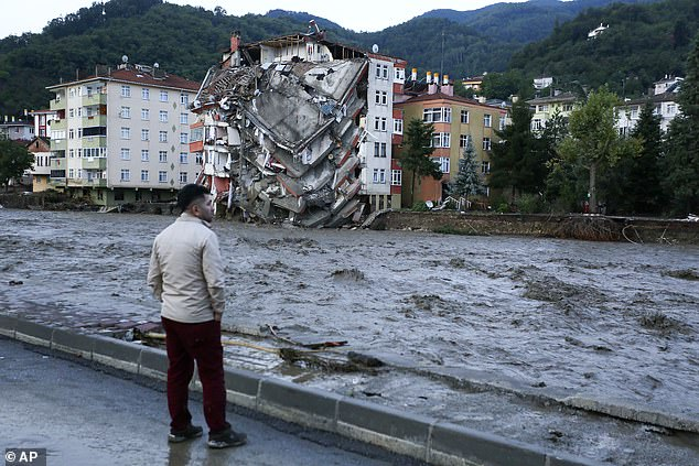 Turkey's disaster and emergency agency said severe floods and mudslides had killed at least five people with another missing on Thursday