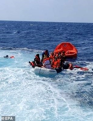 The passengers included three children