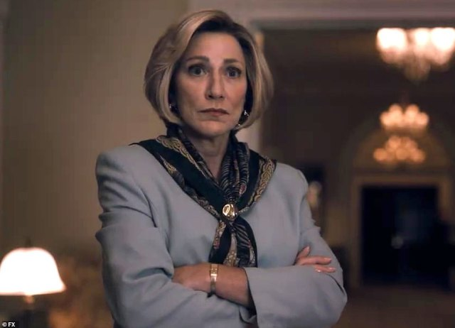 Tense viewing:Edie Falco's Hillary Clinton rages at Clive Owen as Bill Clinton over Monica Lewinsky affair in first full trailer for Impeachment: American Crime Story