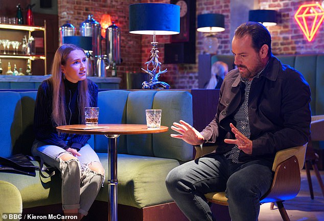 Raising awareness: Rose is the first ever deaf actor to play a deaf character on the soap (pictured with Dani Dyer)