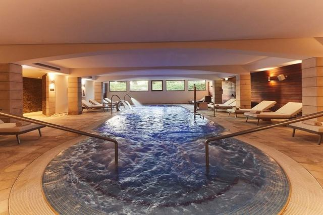 The hotel's facilities are impressive - and include an expansive spa with bubbling pools