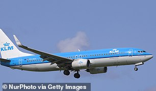 The passenger jet was from KLM Royal Dutch Airlines