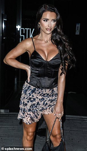 Awkward! Amy Day and Hugo Hammond, both 25, were spotted together on a night out with fellow Love Island cast members to STK restaurant in London on Friday evening