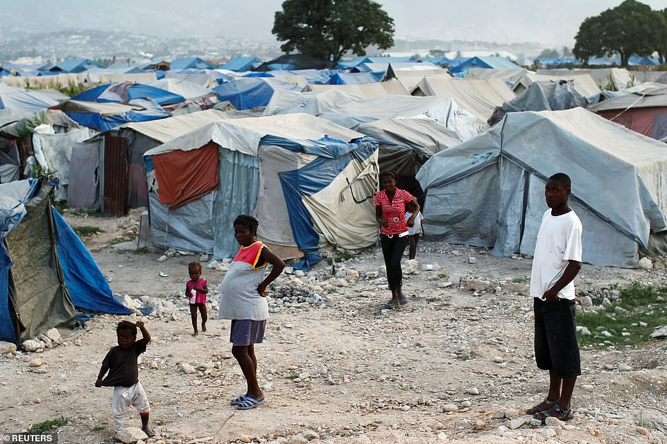 In the aftermath of the 2010 earthquake (pictured) 1.5million Haitians were left homeless and administrative buildings and schools were destroyed, not to mention 60 per cent of Haiti's healthcare system