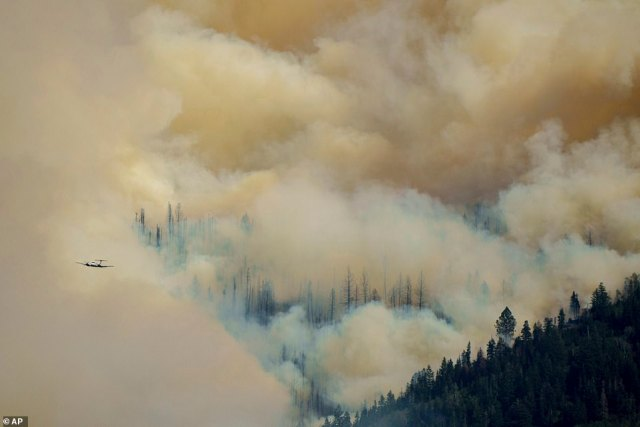 The fire is currently zero per cent contained and is estimated to be burning across 3,000 acres