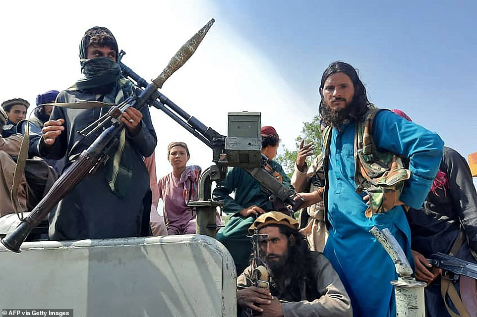 Taliban fighters reached Kabul on Sunday and are awaiting the 'peaceful transfer of power' to the militant Islamic group. They breached the city shortly after
