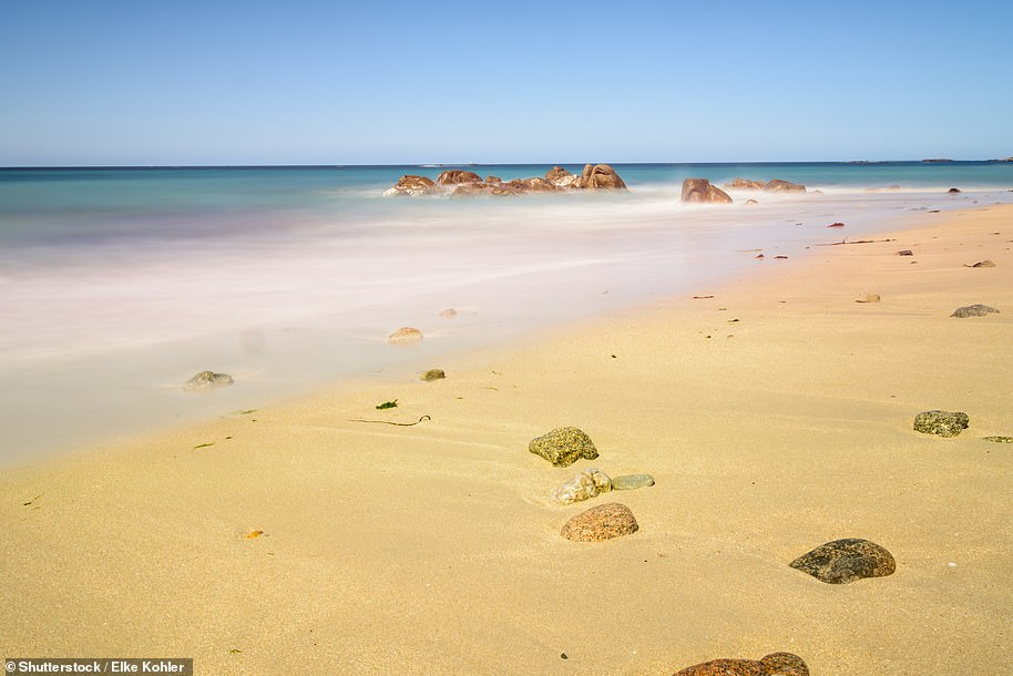 Sadie Whitelocks took 'a detour to admire the sugar-like sands of Shell Beach' on the island of Herm, pictured