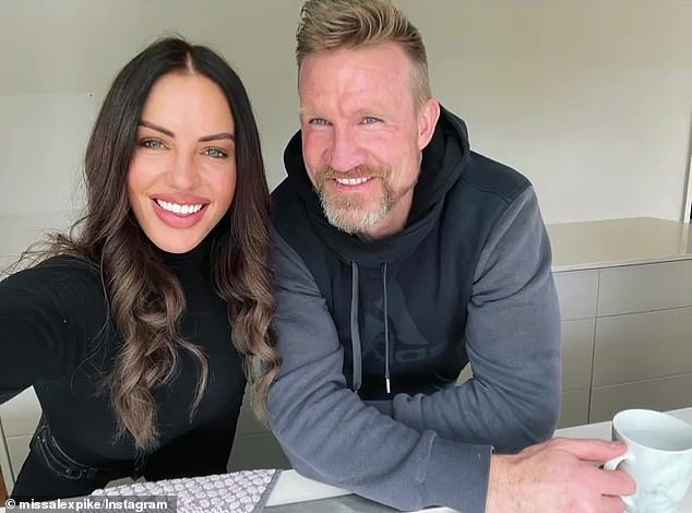 It's love! Alex Pike recently celebrated her boyfriend Nathan Buckley's (right) 49th birthday