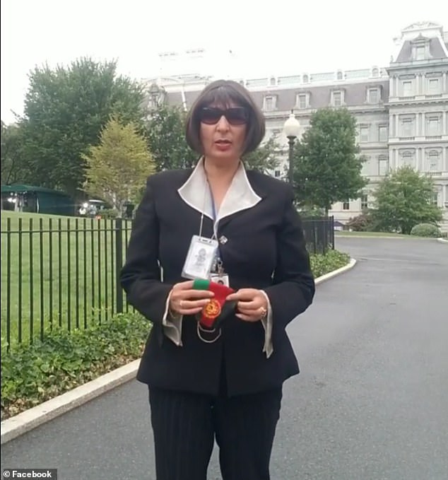 Videos posted on Monday see Karimi standing in the ground of the White House