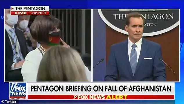 Nazira Karimi, an Afghan Reporter based at the State Department in Washington D.C. broke down in tears as she posed a question during a press briefing on Monday