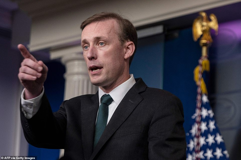 US National Security advisor Jake Sullivan answers questions during the daily press briefing on the situation in Afghanistan at the White House in Washington, DC on Tuesday