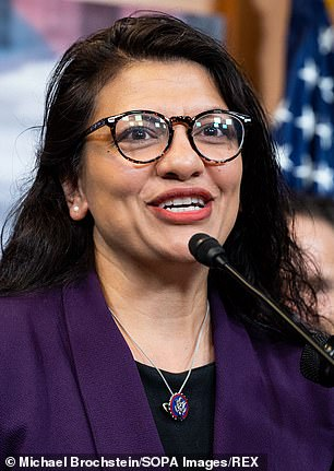 Michigan Rep Rashida Tlaib (pictured) and Massachusetts Rep Ayanna Pressley each raked in thousands of dollars of rental income in 2020 despite having publicly advocated to cancel rent nationwide during the coronavirus pandemic